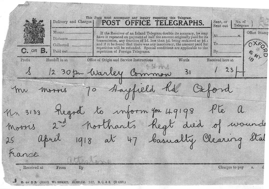 Arthur Morris Telegraph